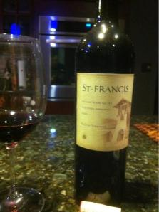 A bottle or two of St Francis Zinfandel, uooo la la