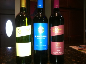 3 bottles of Argentina Wines from Hess Collection