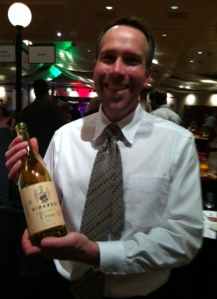 Marc Girardet and his new white wine