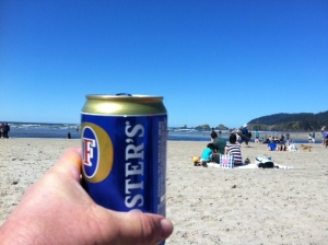 Nothing quite like a frosty Fosters on the beach