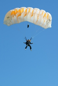 Your never to old to jump from a plane or into the sea below