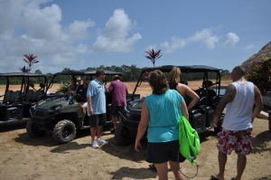 At Sanctuary Belize, boarding transportation