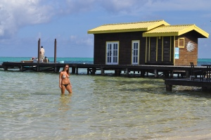 The beachfront waters at X'tan Ha are clear, clean and warm, and sights are beautiful ;-)