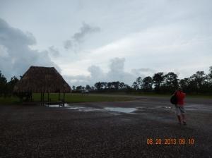 Me greeting the Mayan Flight