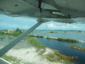 Coming in for a landing on Ambergris Caye..Oh Crap!