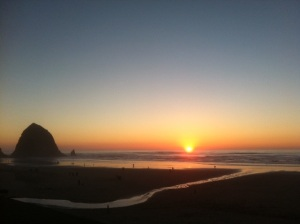 View from my balcony at the Surfsand Oceanfront Resort, Cannon Beach, Oregon