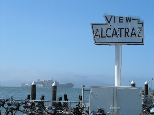 A view of Alcatraz Prison