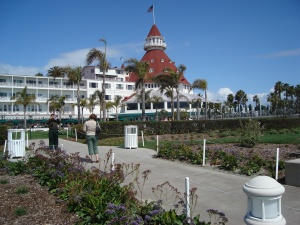 The Hotel del Coronado is a historic hotel, waterfront, with movie star history and ghosts. It's also a great place to wander, shop, or sit on the outside deck and enjoy a glass of wine and maybe some lunch.