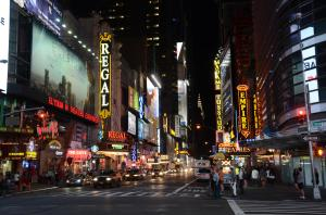 Nothing quite says NYC like a stroll down Times Square at night