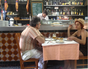 Enjoying someones company (or not?) in a Bistro can be quite romantic.