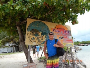 On Caye Caulker Island